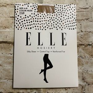 NEW Elle Nude Silky Sheer Control Top Panty Hose